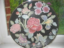 Floral decorative plate charger