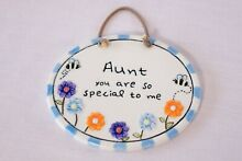 Aunt hanging wall plaque brand new