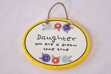 Daughter hanging wall plaque brand