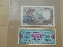 France 4 different notes 50 and 100