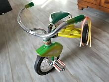 Tricycle green yellow rat fink