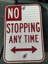 No stopping anytime street double