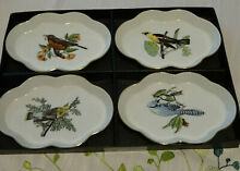 Fitz floyd set of 4 canape plates