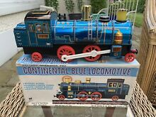 Continental blue locomotive tin