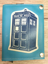 Blue wallet dr who style tardis
