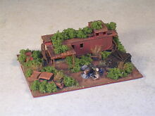 Z scale railroad hobo camp rusted