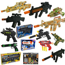 Plastic police army machine gun