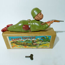 Rare windup celluloid soldier