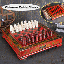 32pcs large wooden warriors chess