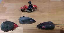 Tin toy friction mouse x 2 police