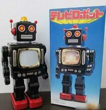Metal house television robot black