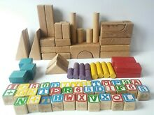 Box of assorted wood building