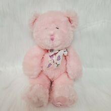 10 buffie bear pink rattle baby