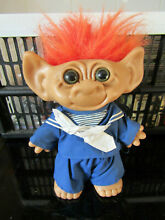 Rare 8 doll co inc troll red hair
