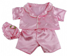 Pink satin pjs pyjamas teddy