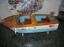 Toy wood boat mouled hull fleet