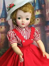 1950 cissy puppe blond 20 in rot