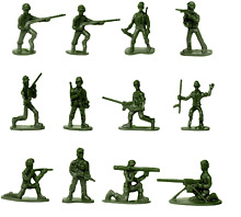 50 pcs various pose toy soldiers