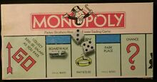 Parker brothers 1985 monopoly board