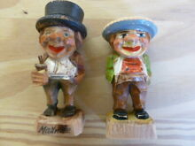 Two wood wooden carved figures good