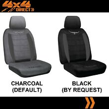 Single r m suede velour seat cover