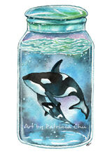 Orca in the jar 5x7 limited edition