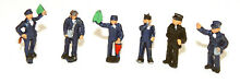 6 station workers painted n gauge