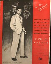 Le fil du rasoir press book