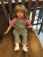 Blonde doll in original overall