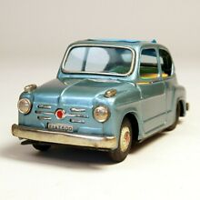 Tinplate toy friction car fiat600