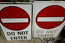 Large do not enter s approx 24 35
