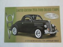 Brochure 1936 ford deluxe coupe le