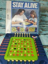 Stay alive board game mb 1975 boxed