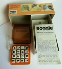 Boggle word game 1978