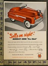 1949 ohio fire chief pedal car