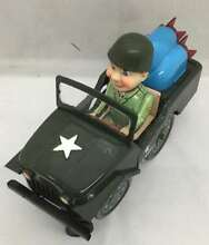 U s army jeep tin toy lithographed