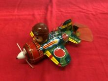 Tinplate windup toy our hreo fly in