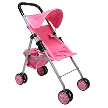 First doll stroller for kids pink