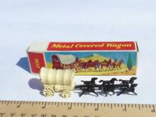 Boxed metal covered wagon lesney