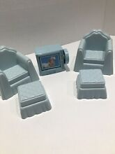 Dollhouse furniture blue chair