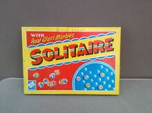 Solitaire real glass marbles