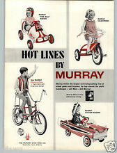 1967 paper ad murray pedal car fire