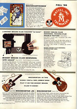 1956 paper ad 4 pg toys mickey