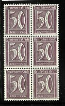 Germany sc 167 block of 6 4 mint no