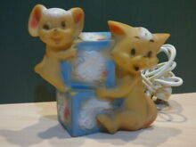 Tom and jerry night light rubber