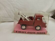 5 tin friction tow truck asc toys