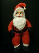 Santa rubber face plush toy doll 28