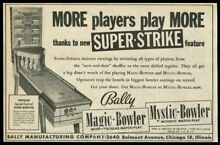 1955 bally magic bowler coin op
