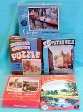 5 complete old puzzles the bedford