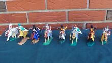 8 medieval knights soldiers on